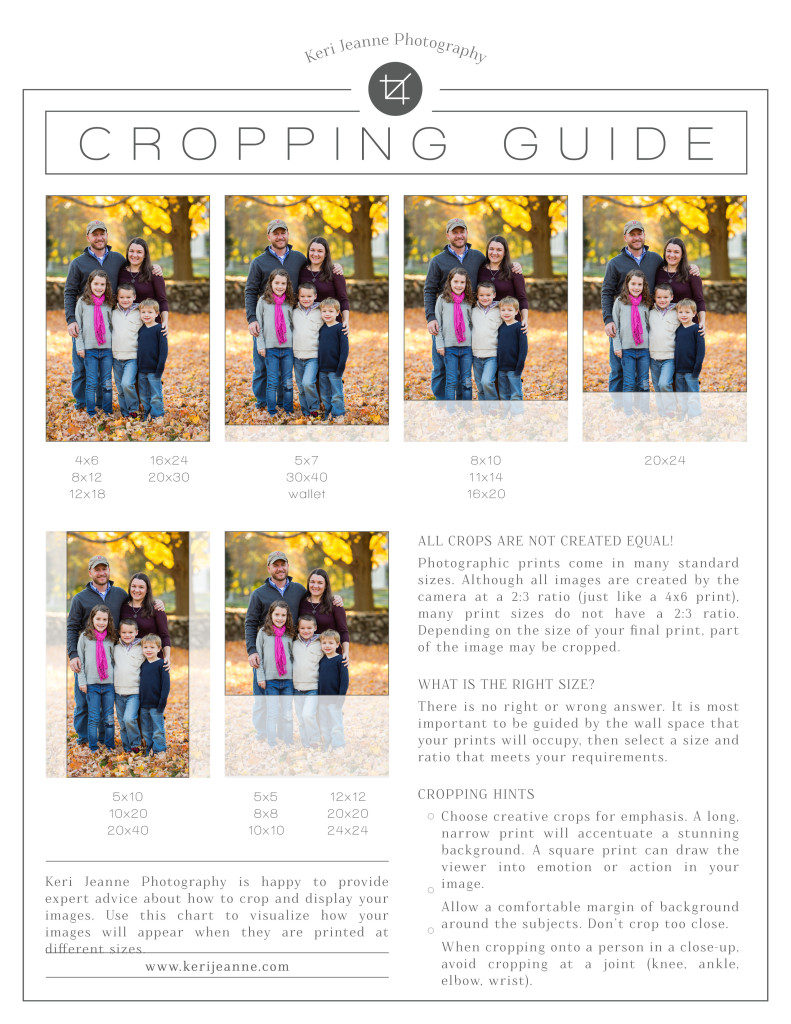 cropping guide, how to crop your images, what cropping looks like