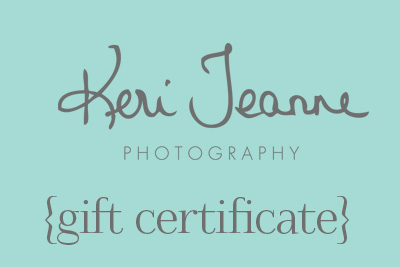 family photography gift certificate - available in any amount
