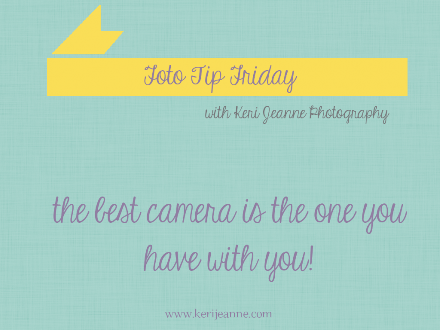 foto tip friday, use your camera